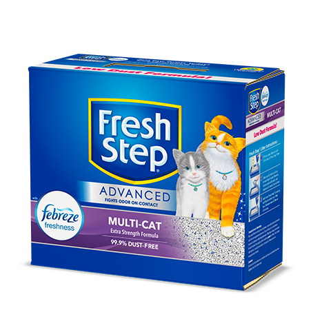 Advanced Multi-Cat Scented Litter with the power of Febreze 18lb