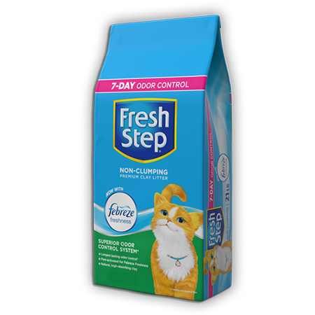 Premium Non-Clumping Litter now with Febreze 7lb