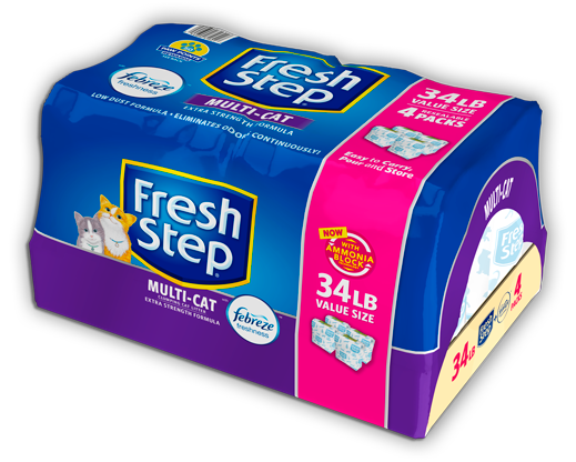 Multi-Cat Scented Litter with the power of Febreze 34lb