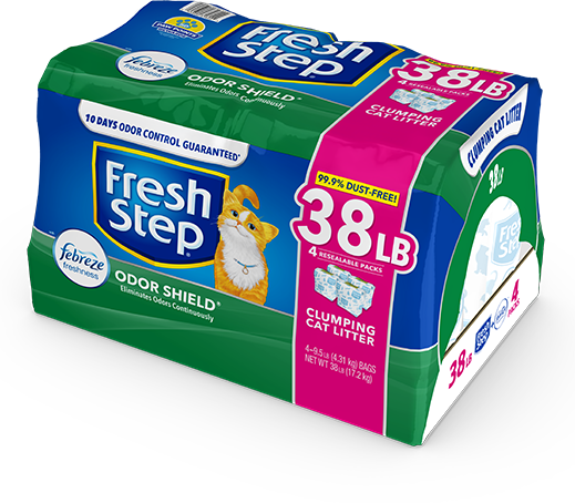 Odor Shield Scented Litter with the power of Febreze 38lb
