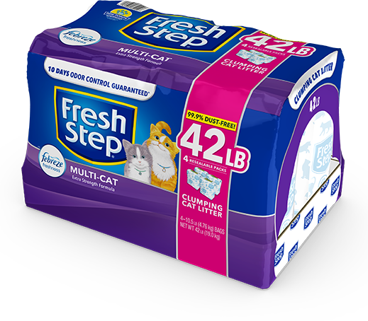 Multi-Cat Scented Litter with the power of Febreze 42lb