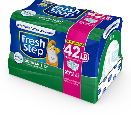 Odor Shield Scented Litter with the power of Febreze 42lb