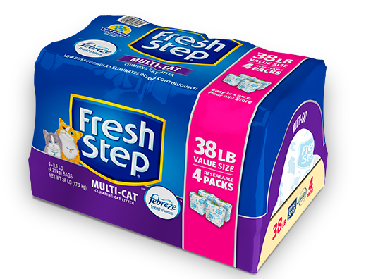 Multi-Cat Scented Litter with the power of Febreze 38lb