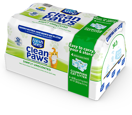 Clean Paws<sup>®</sup> Simply Unscented Litter 34.2lb