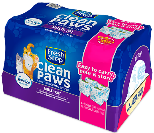 Clean Paws® Multi-Cat Scented Litter with the power of Febreze 37.8lb