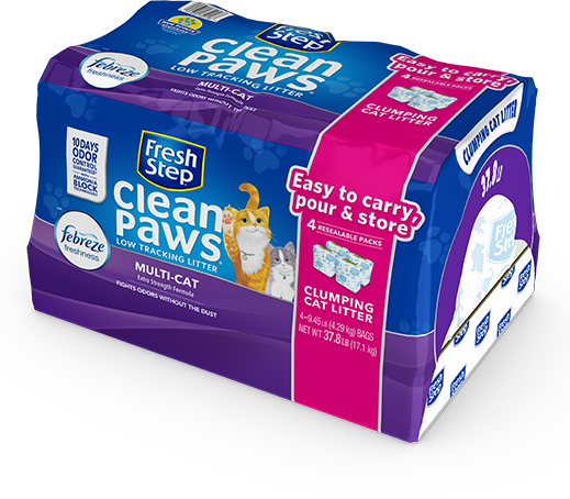 Clean Paws<sup>®</sup> Multi-Cat Scented Litter with the power of Febreze 37.8lb
