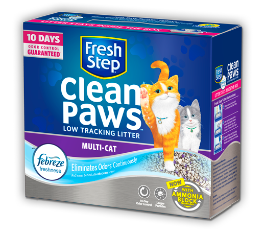 Clean Paws® Multi-Cat Scented Litter with the power of Febreze 10.8lb