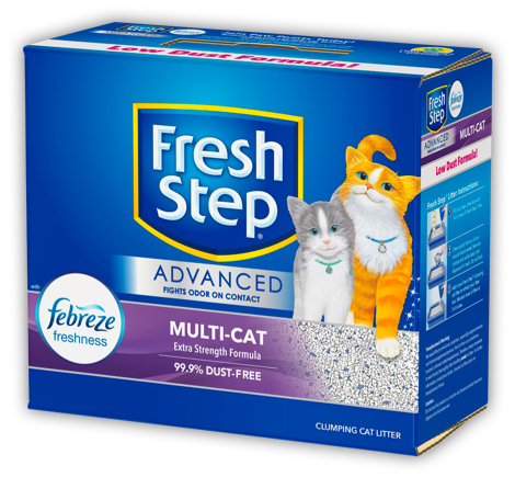 Advanced Multi-Cat Scented Litter with the power of Febreze 18.5lb