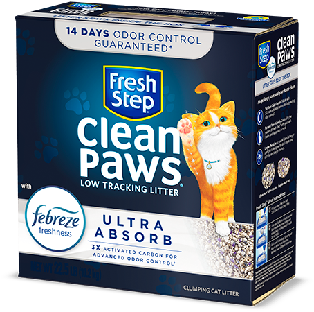 Clean Paws<sup>®</sup> Ultra Absorb Clumping Cat Litter 22.5lb
