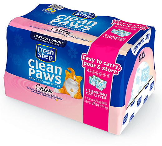 Clean Paws<sup>®</sup> Calm, Rose and Chamomile Scented Litter 37.8lb